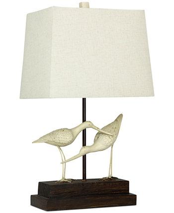Кулики на песочной настольной лампе StyleCraft