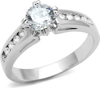 Обручальное кольцо из латуни с родиевым покрытием Covet