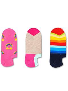 3-Pack Happy Rainbow Sneaker Liner Happy Socks