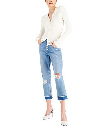Текстурированная блуза на пуговицах LEYDEN