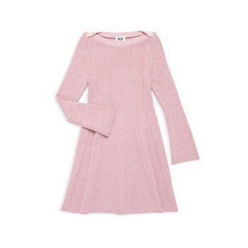 Платье для девочек с блестками в рубчик Milly Minis