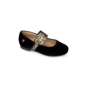 Маленькая девочка & amp; Бархатные туфли Мэри Джейн для девочек Venettini
