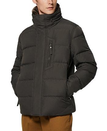 Мужская стеганая куртка-пуховик Horizon со скрытым капюшоном и съемной отделкой из искусственного меха Marc New York by Andrew Marc