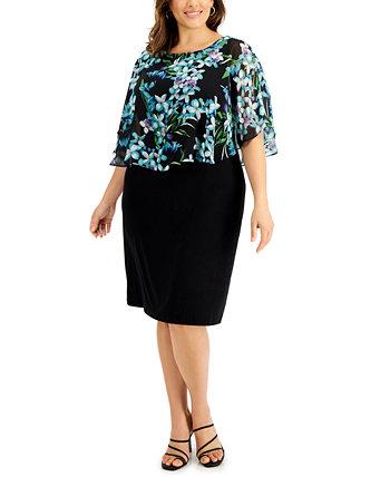 Платье большого размера с принтом Popover Connected