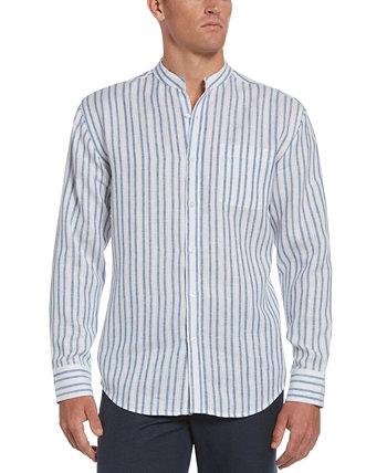 Мужская рубашка в полоску с воротником-стойкой Cubavera