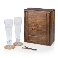 Picnic Time Tampa Bay Buccaneers Pilsner Beer Glass Gift Set Picnic Time