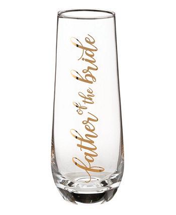 Бокал с шампанским без ножек для отца невесты и бокал для свадебных тостов Lillian Rose