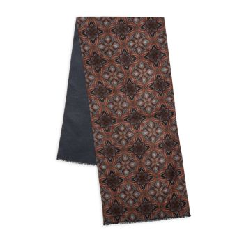 Шелковый шарф с рисунком Kiton