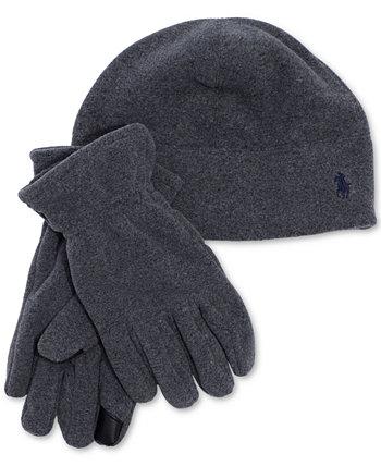 Комплект мужской флисовой шапки и перчаток Polartec Ralph Lauren