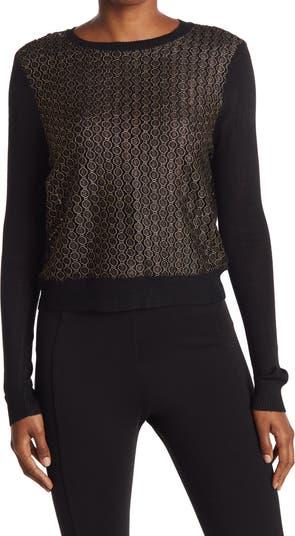Укороченный вязаный свитер с кружевом Lucy Paris