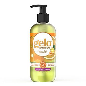 Gelo Liquid Gel Hand Soap - Lemon, Basil, Geranium, 10 fl oz Gelo