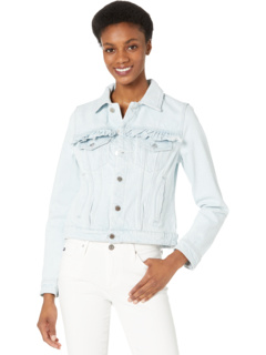 Джинсовая куртка Trucker с оборками Blank NYC