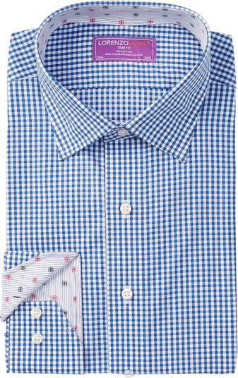 Классическая рубашка в клетку с длинными рукавами и отделкой в клетку Lorenzo Uomo
