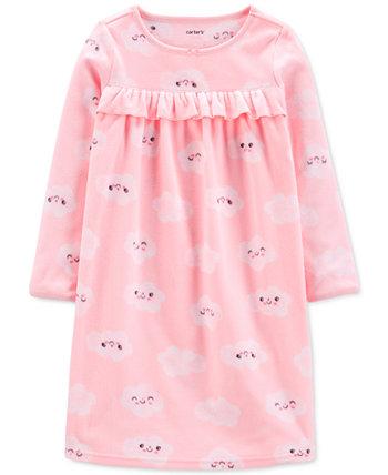 Флисовая ночная рубашка с облачным принтом для маленьких и больших девочек Carter's
