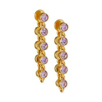 Goldtone & amp; Серьги-капли с кристаллами Oscar de la Renta