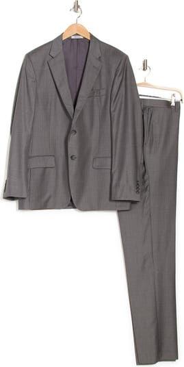 Шерстяной костюм с двумя пуговицами в тонкую полоску Hickey Freeman