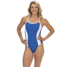 Women's Dolfin Aquashape Bust Enhancer Moderate-Cut One-Piece Lap Swimsuit Dolfin