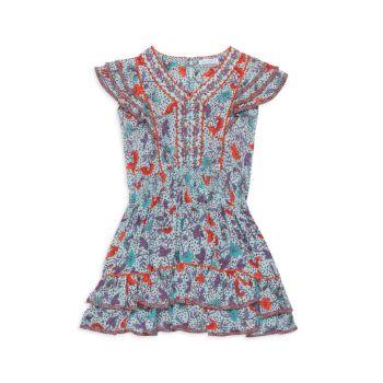 Платье Camilla для маленьких девочек и девочек с рюшами Poupette St Barth