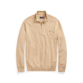Mesh-Knit Cotton Quarter-Zip Sweater  ig Ralph Lauren