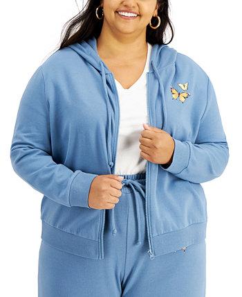 Trendy Plus Size Butterfly-Print Sweatshirt Rebellious One