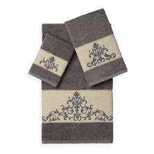 Linum Home Textiles Scarlet 3-piece Embellished Bath Towel Set LINUM HOME TEXTILES