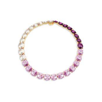 Goldtone & amp; Ожерелье с кристаллами Swarovski Oscar de la Renta