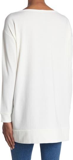 Туника с высоким / низким вырезом и вырезом Go Couture