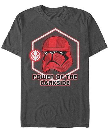 Мужская футболка Rise Of Skywalker Red Trooper с мощной темной стороной и коротким рукавом Star Wars