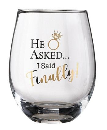 Он спросил, я сказал, наконец, бокал для вина Lillian Rose