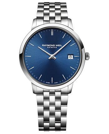 Мужские часы Swiss Toccata с браслетом из нержавеющей стали, 42 мм Raymond Weil
