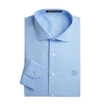 Классическая рубашка из эластичного хлопка Roberto Cavalli