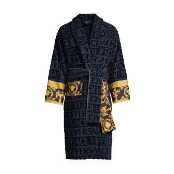 Халат в стиле барокко с логотипом Versace