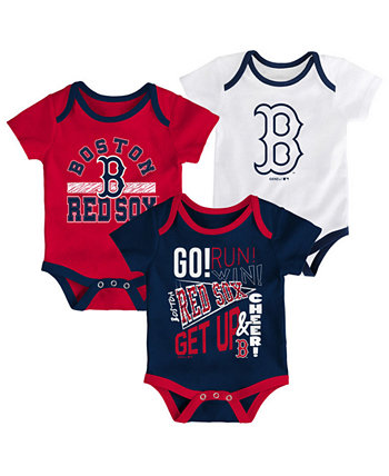 Комплект боди из 3 предметов Baby Boston Red Sox Newest Rookie Outerstuff