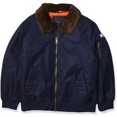 Офицерская куртка с отложным воротником и съемным ворсовым воротником Tommy Hilfiger