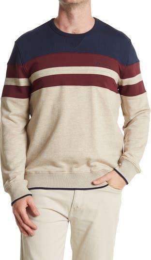 Толстовка-пуловер в полоску с цветными блоками Ben Sherman