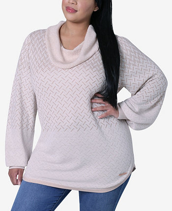Женский пуловер большого размера с круглым подолом Adrienne Vittadini