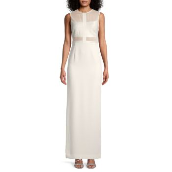 Solid Mesh Gown Halston Heritage