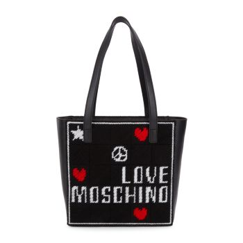 Вышитая сумка-тоут LOVE Moschino