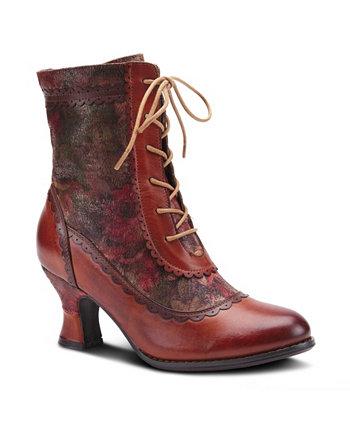 Женские ботинки на шнуровке с цветочным рисунком Bewitch L'ARTISTE