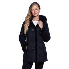 Women's Gallery Hooded Faux-Fur Coat Gallery