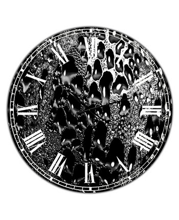 """Abstract Droplets 15 Крупногабаритные современные настенные часы - 36 """"x 28"""" x 1 """" Designart"""