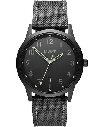 Полевые мужские серые нейлоновые часы с ремешком 41мм MVMT