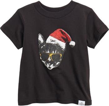 Santa Cat Graphic T-Shirt Kid Dangerous