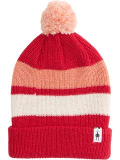 Полосатая шапка с помпонами (для маленьких / больших детей) Smartwool Kids