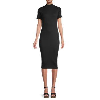 Облегающее платье с воротником под горло Calvin Klein Jeans