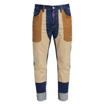 Матросские брюки с цветными блоками DSQUARED2