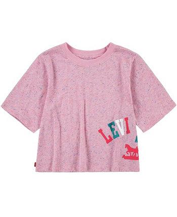Укороченная футболка из хлопкового джерси для больших девочек Levi's®