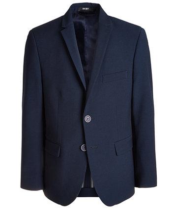 Эластичный темно-синий пиджак Big Boys Classic-Fit DKNY