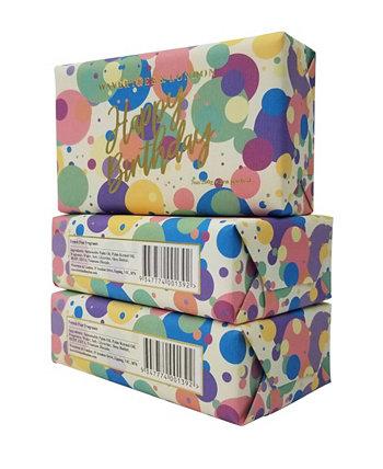 С Днем Рождения - Конфетти - Кусковое мыло по 3 упаковки по 7 унций каждая Wavertree & London