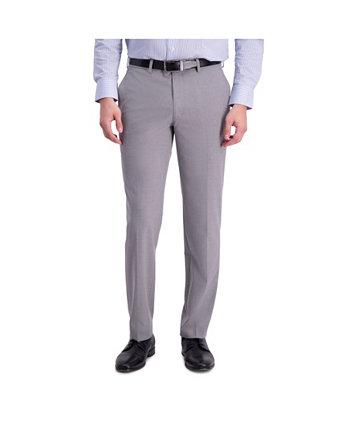 Комфортные эластичные однотонные классические брюки скинни с плоской передней частью Louis Raphael